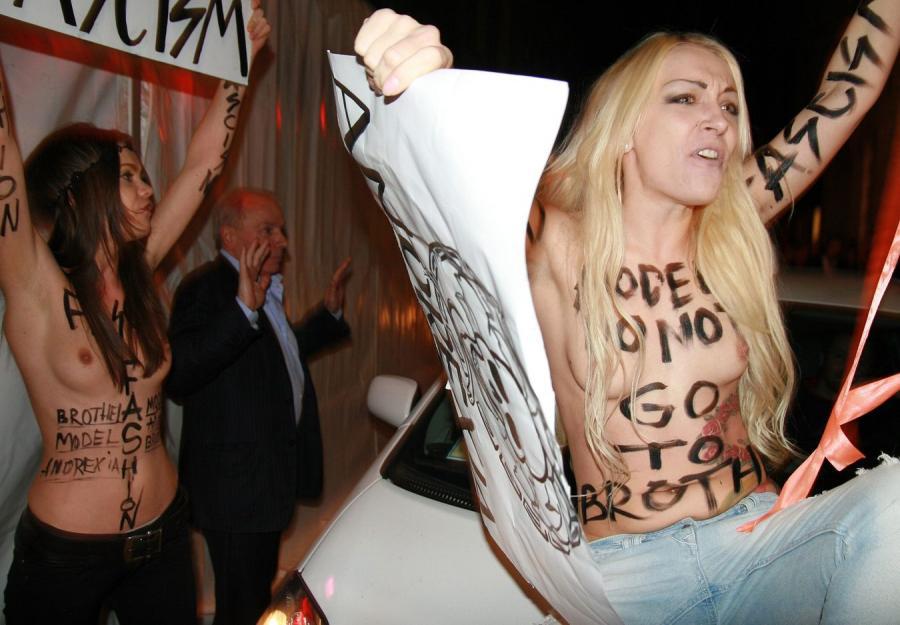 Aktywistki z grupy Femen protestowały w Mediolanie