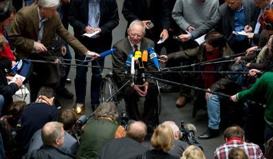 Wolfgang Schaeuble podczas obrad Bundestagu
