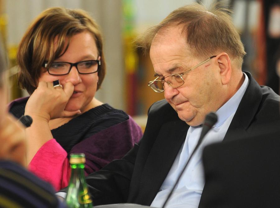 Beata Kempa i ojciec Tadeusz Rydzyk