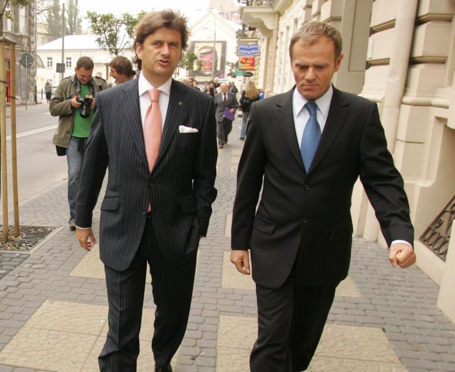 Janusz Palikot i Donald Tusk