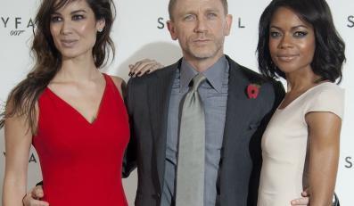 """Gwiazdy """"Skyfall"""": Bérénice Marlohe, Daniel Craig i Naomie Harris"""