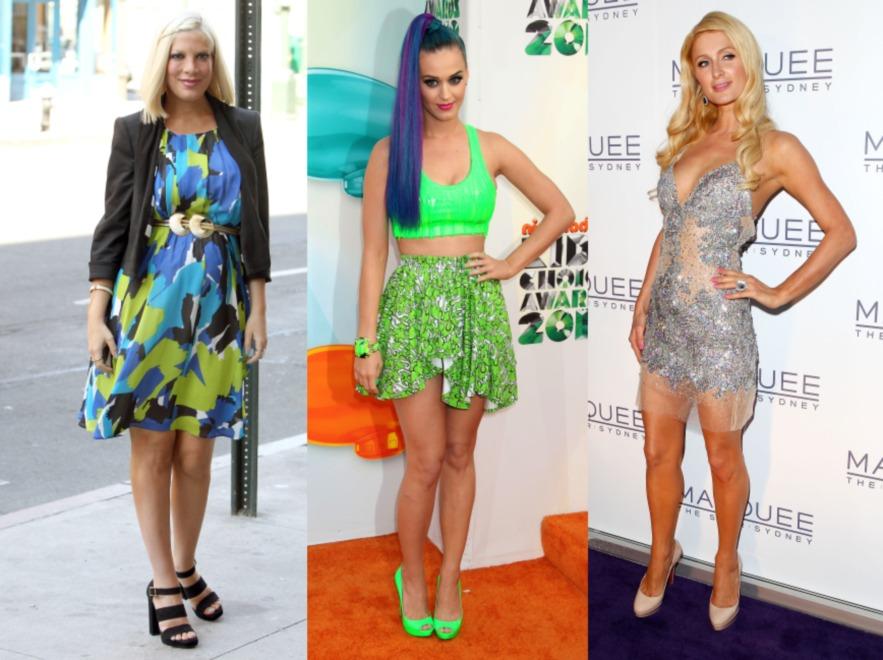 Tori Spelling, Paris Hilton i Katy Perry
