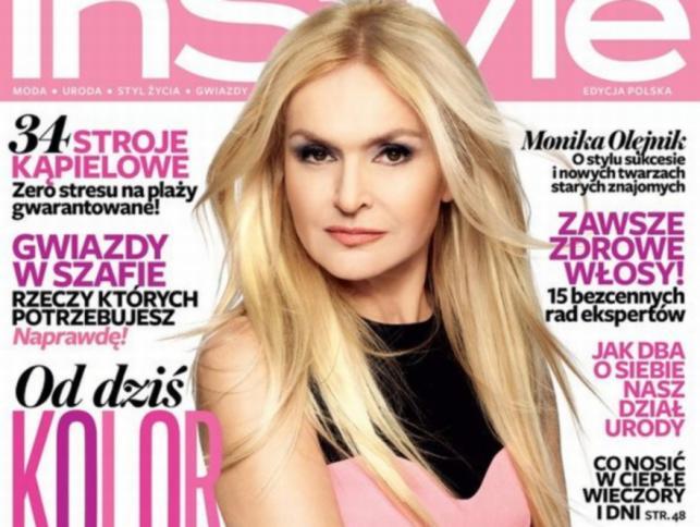 Monika Olejnik na okładce magazynu InStyle, maj 2012