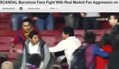 Bójak kibiców Barcelony i Realu