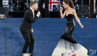 Gary Barlow i Chery Cole na koncercie z okazji jubileuszu Elżbiety II
