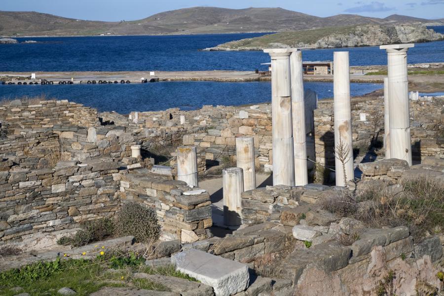 Antyczne ruiny na Delos