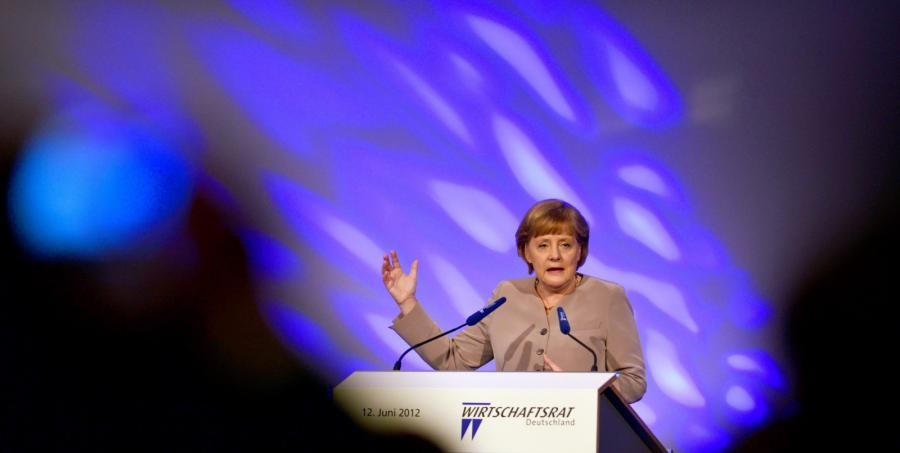 Kanclerz Niemiec Angela Merkel na konwencji CDU poświęconej gospodarce