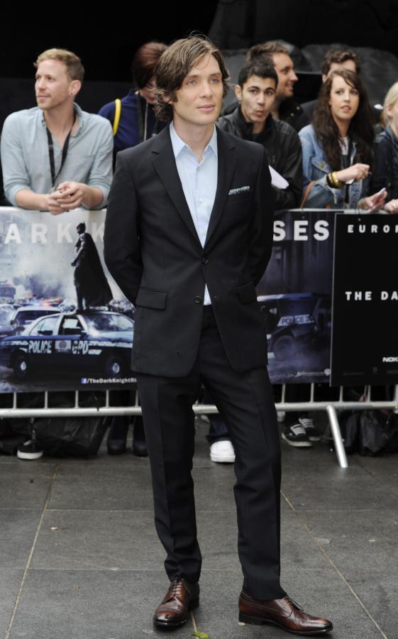 """Cillian Murphy na premierze filmu """"Mroczny rycerz powstaje"""" w Londynie"""