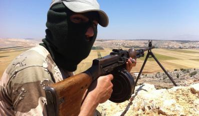 Powstaniec na wzgórzach Syrii