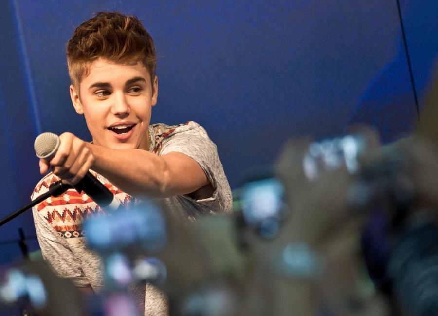 Justin Bieber we Frankfurcie, gdzie dał specjalny, akustyczny koncert