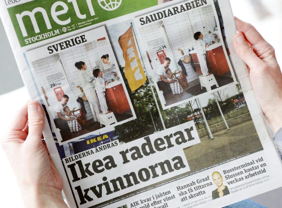 Katalog IKEA 2013 bez postaci kobiet
