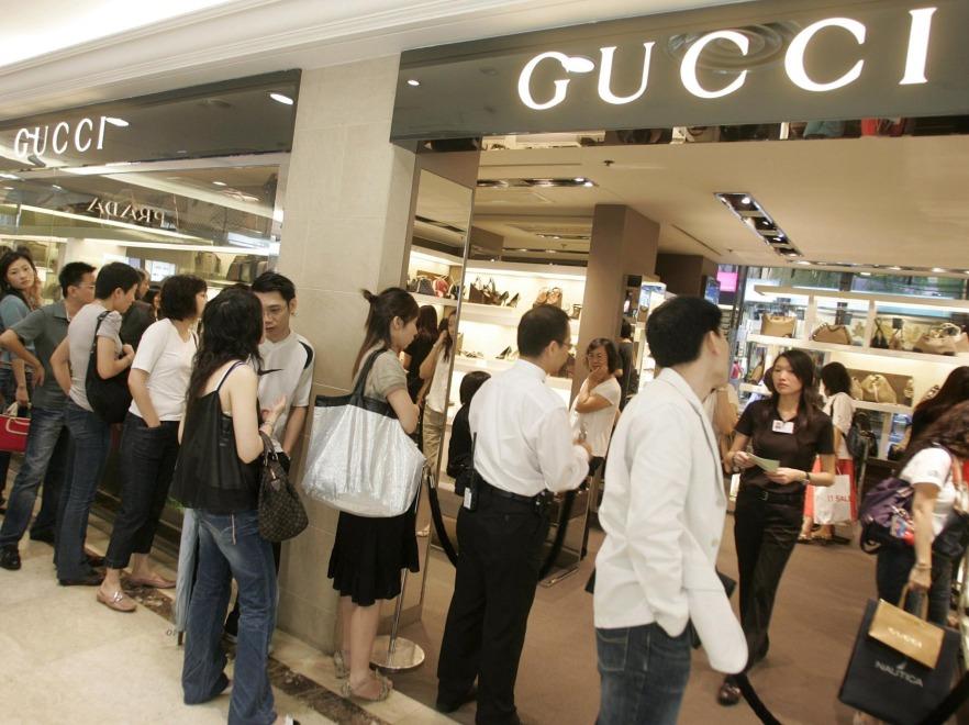 Butik Gucci w Hongkongu