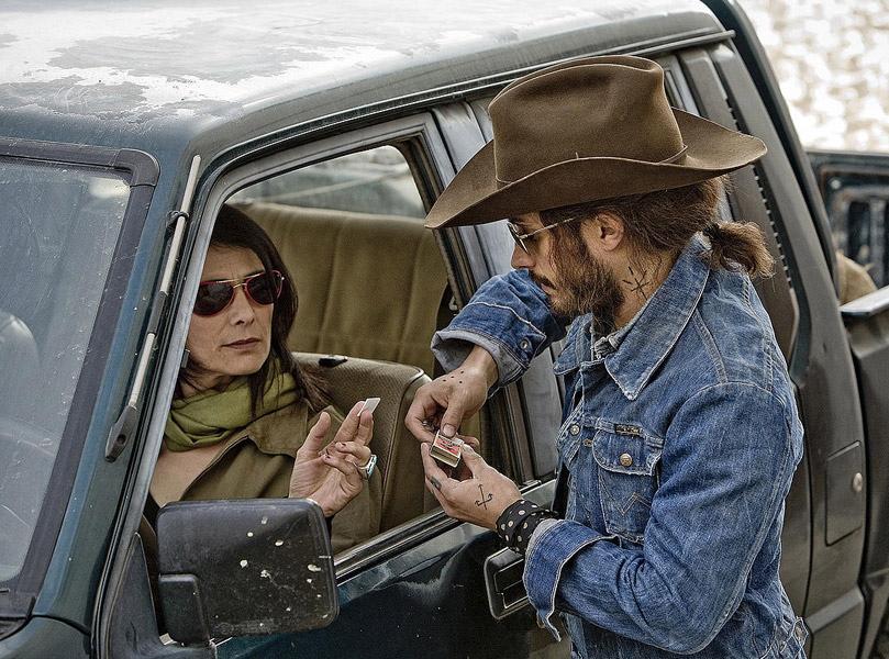 Hiam Abbass i Gael Garcia Bernal w filmie \
