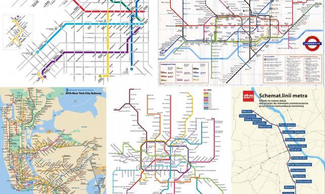 Metro na świecie. Szanghaj a Warszawa. MAPY