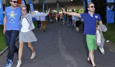 Zofia Ślotała i Borys Szyc na festiwalu w Opolu