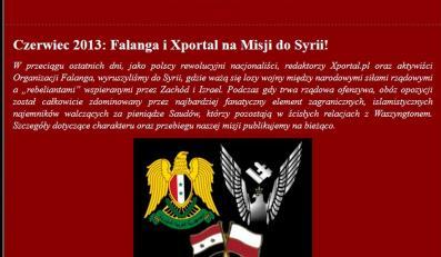 Strona internetowa Falangi