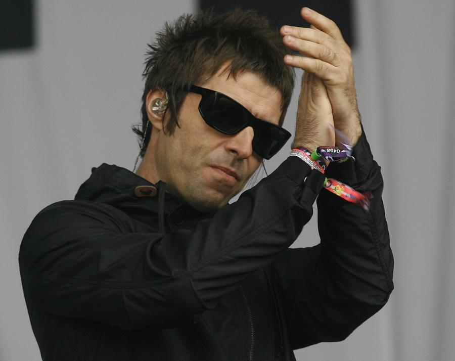 Liam Gallagher na festiwalu w Glastonbury