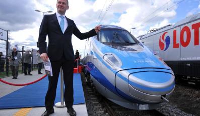 Pociąg Pendolino na 10. Międzynarodowych Targach Kolejowych Trako w Gdańsku