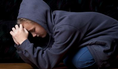 Przerażona nastolatka