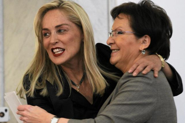 Sharon Stone i Ewa Kopacz