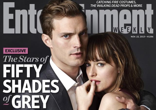 """Dakota Johnson i Jamie Dornan na pierwszym zdjęciu oficjanie promującym """"Pięćdziesiąt twarzy Greya"""""""