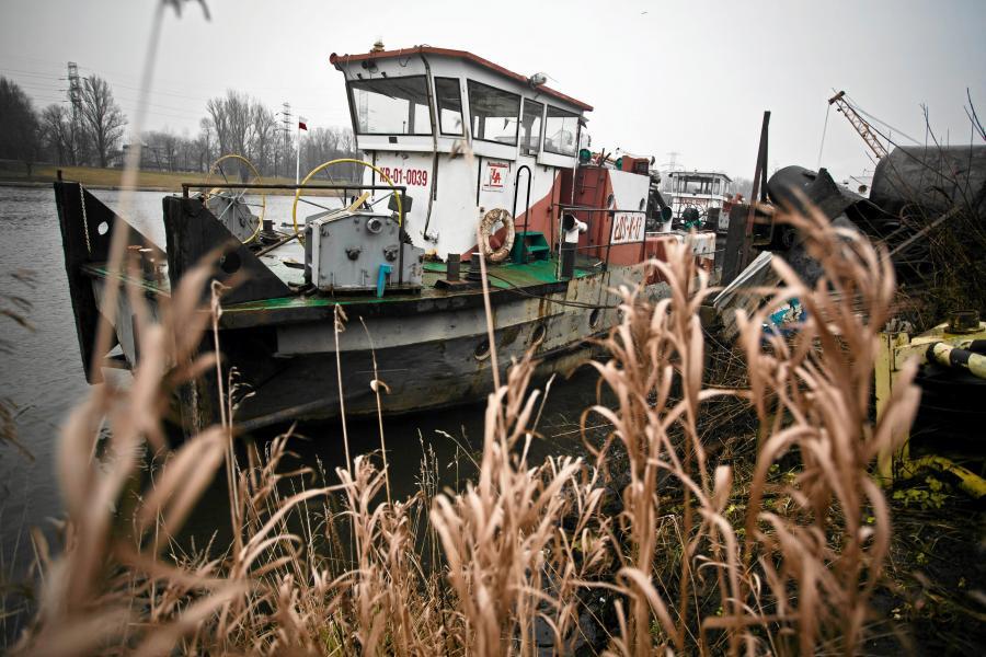 Port rzeczny na Wiśle, gdzie znaleziono fragmenty szczątków zamordowanej studentki