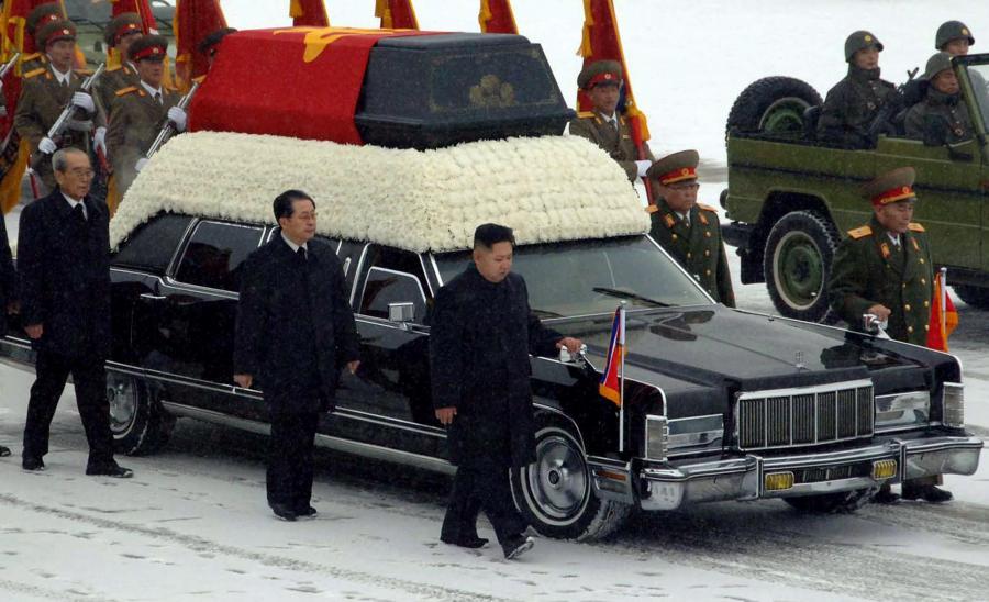 Kim Dzong Un i Jang Song Thaek na pogrzebie Kim Dzong Ila