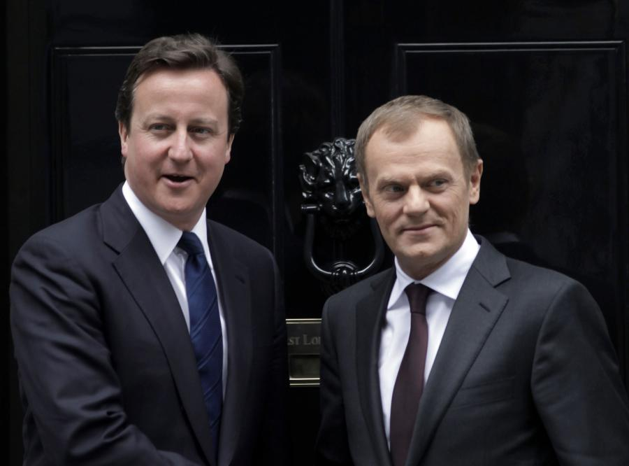 David Cameron i Donald Tusk