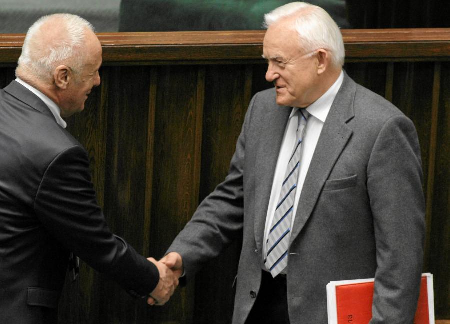 Stefan Niesiołowski i Leszek Miller