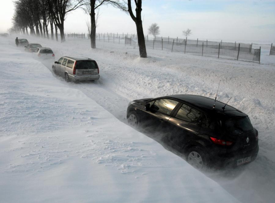 Zima atakuje. Droga wojewódzka Lublin-Biłgoraj
