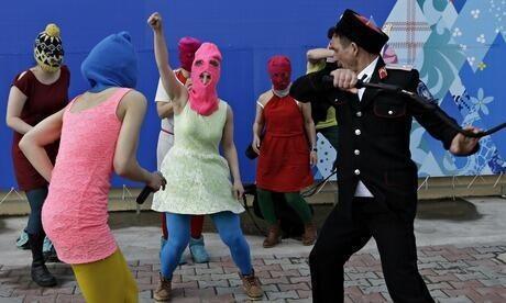 Pussy Riot zaatakowane w Soczi