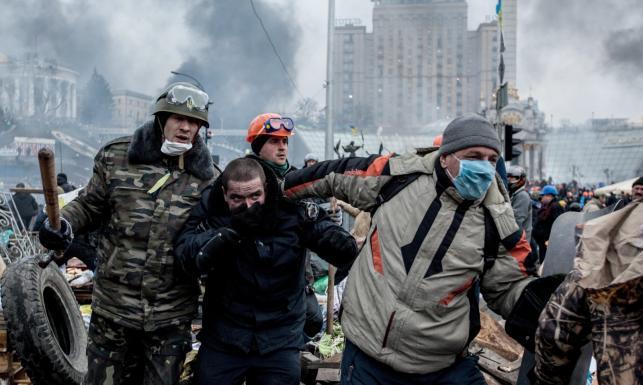 Walki na Majdanie w Kijowie