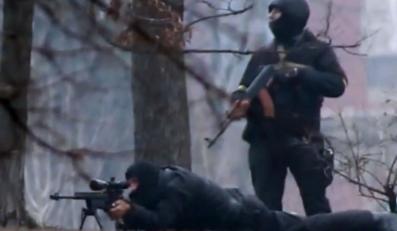 Snajper strzela w Kijowie