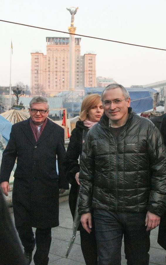 Michaił Chodorkowski w Kijowie