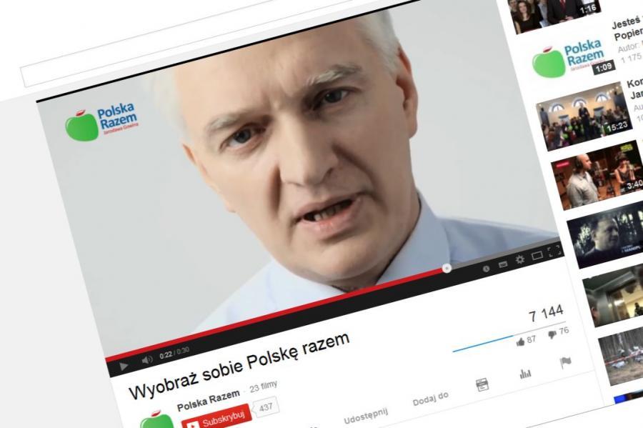 Jarosław Gowin w pierwszym spocie Polski Razem