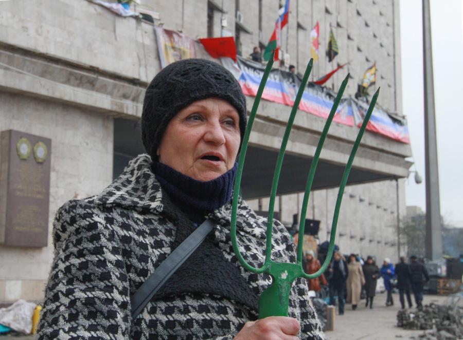 Zwolenniczka przyłączenia wschodu Ukrainy do Rosji