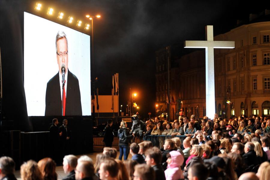 Wystąpienie prezydenta Bronisława Komorowskiego podczas koncertu dziękczynnego \