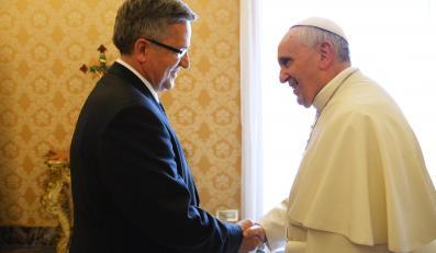Bronisław Komorowski i papież Franciszek