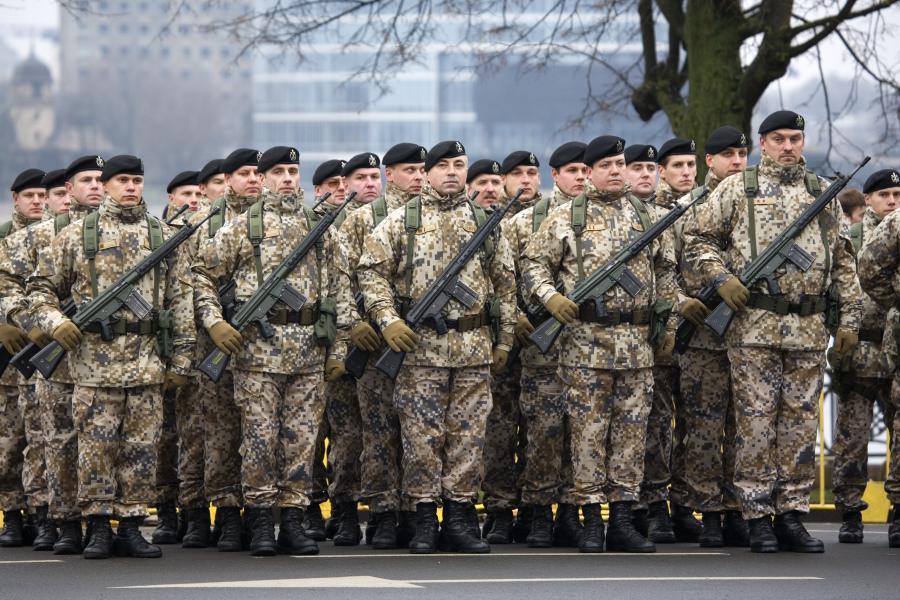 Łotewscy żołnierze