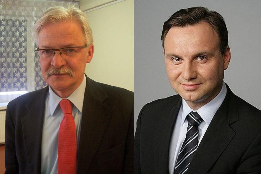 Tadeusz Zwiefka i Andrzej Duda