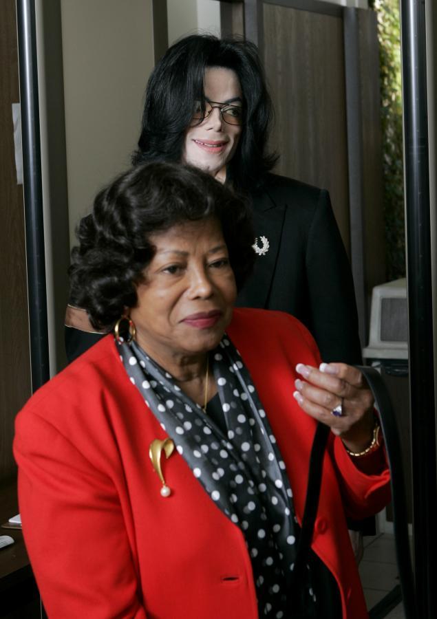 Michael Jackson i jego matka Katherine