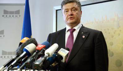 Prezydent elekt Ukrainy Petro Poroszenko, podczas konferencji prasowej w Warszawie