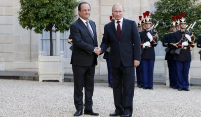 Francois Hollande i Władimir Putin