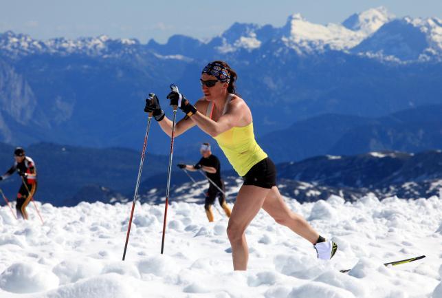 Justyna Kowalczyk trenuje na lodowcu. Polka szykuje się do sezonu