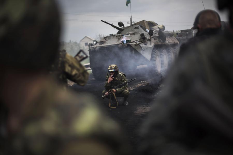 Ukraińska armia w Słowiańsku