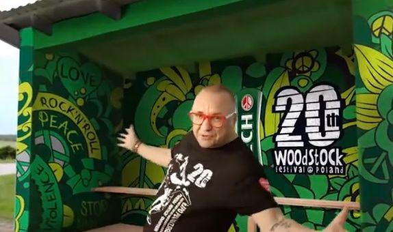 Jerzy Owsiak w klipie promującym 20. Przystanek Woodstock