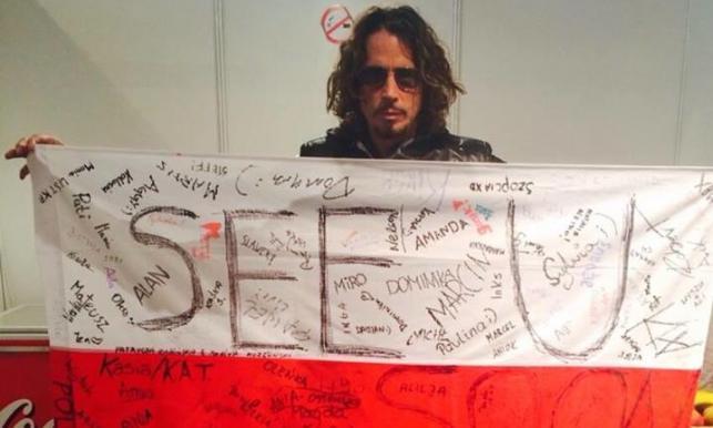Chris Cornell z polską flagą