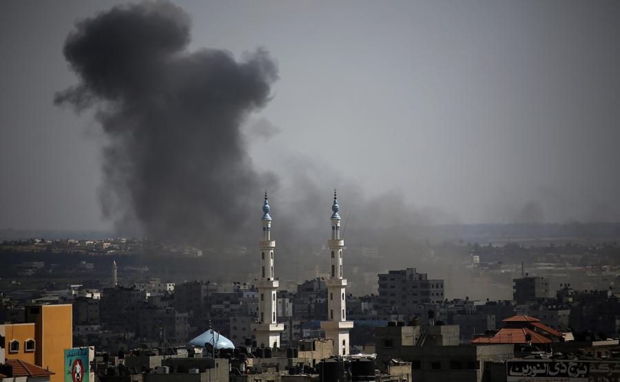 Strefa Gazy po izraelskich nalotach