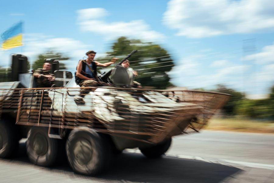 Ukraińscy żołnierze w Kramatorsku