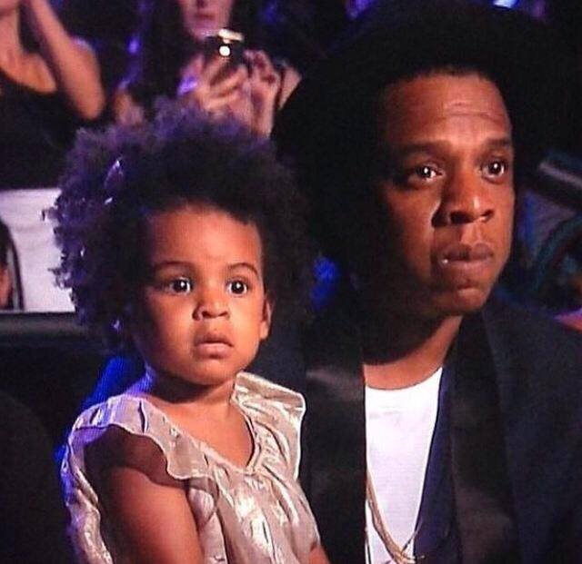 Blue Ivy z tatą gali MTV Video Music Awards 2014